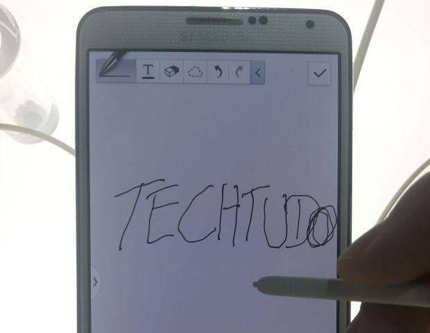 Conseguimos escrever no Galaxy Note 3 (Foto: Pedro Zambarda/TechTudo)