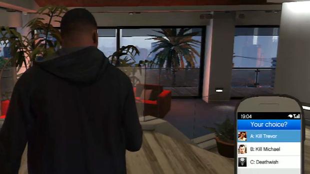 Os três finais de GTA 5 envolvem escolher entre matar Michael, Trevor ou salvar ambos (Foto: IGN / Reprodução)