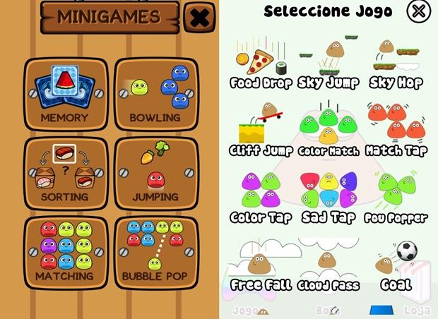 Pou possui mais minigames que My Boo (Foto: Reprodução / Dário Coutinho)