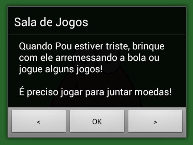 Pou recebeu uma atualização que inclui o idioma português (Foto: Reprodução / Dario Coutinho)