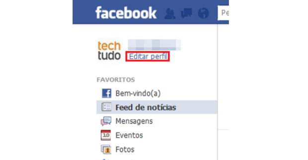 Editar perfil no Facebook (Foto: Reprodução/Lívia Dâmaso)