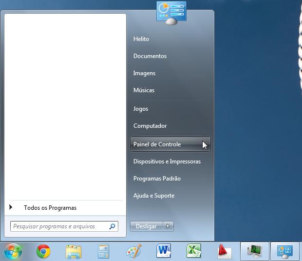 Menu Iniciar do Windows 7 (Foto: Reprodução/Helito Bijora)