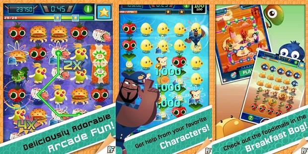 Jogo lembra Candy Crush Saga, mas Cloudy with Meatballs 2 inclui mais frutas na dieta (Foto: divulgação)