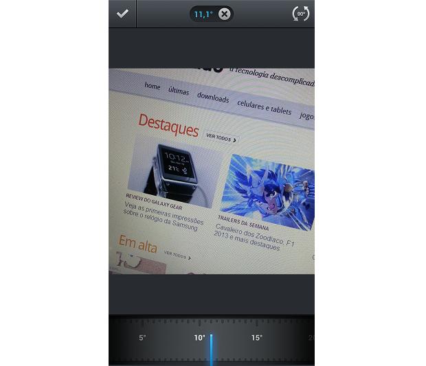 Recurso de ajustar ângulo de fotos agora também no Instagram para Android (Foto: Reprodução/Thiago Barros)