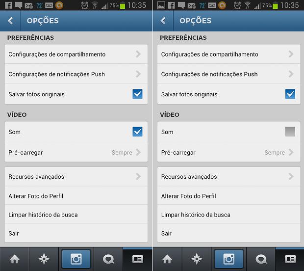 No Android, função é diferente (Foto: Reprodução/Aline Jesus)
