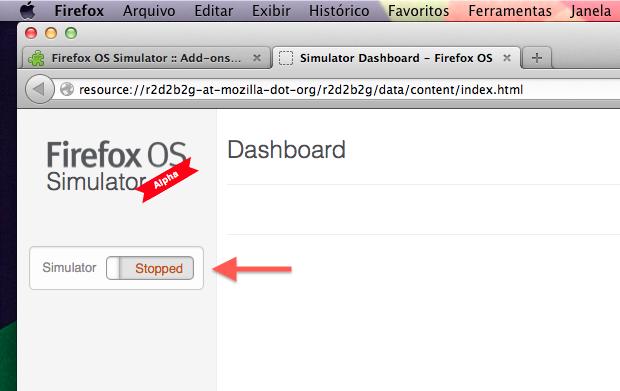 Iniciando o Firefox OS (Foto: Reprodução/Helito Bijora)
