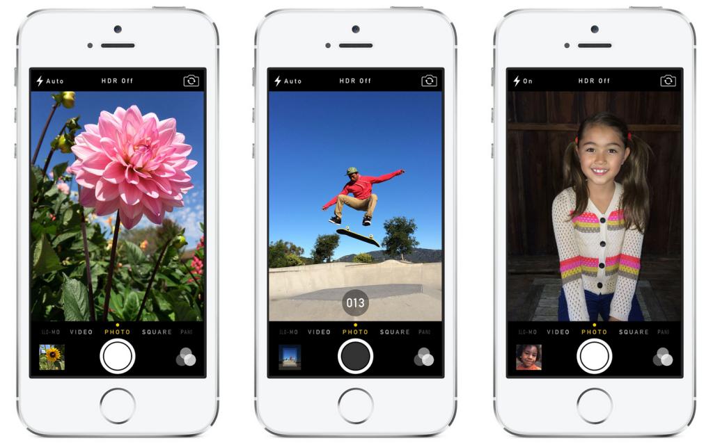 Recurso de câmera no iOS 7 tem interface nova e modo burst. (Foto: Reprodução / iDownload)