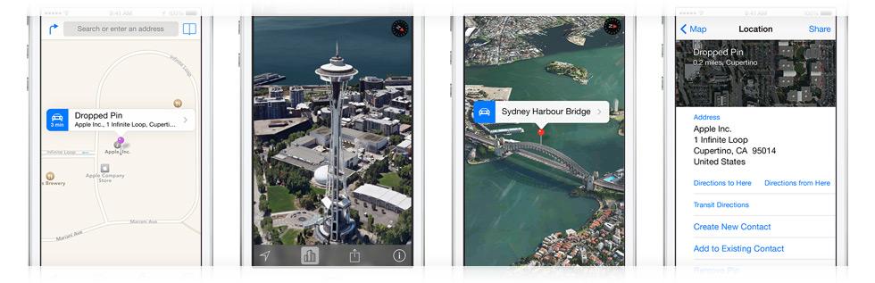 Mapas para iPhone agora tem modo de exibição em 3D. (Foto: Divulgação / Apple)