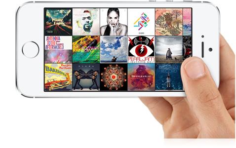 Usuários podem visualizar todas capas de álbuns transferidos pro iPhone. (Foto: Divulgação / Apple)