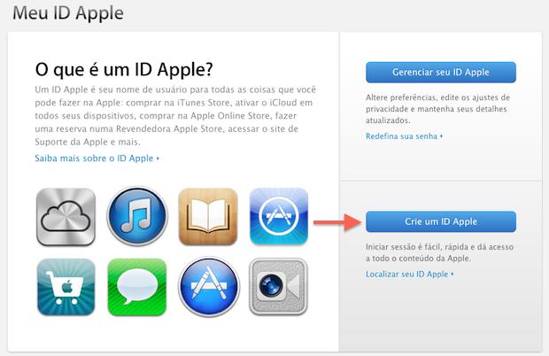 Iniciando a criação de uma Apple ID (Foto: Reprodução/Marvin Costa)