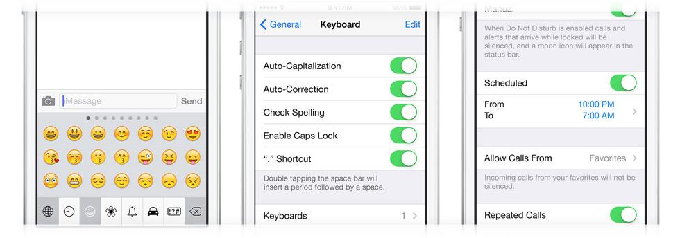 iOS 7 chega com algumas mudanças na área de Ajustes também. (Foto: Divulgaçao / Apple)