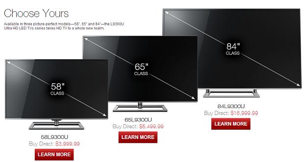 Site da Toshiba já tem modelos nos EUA (Foto: Reprodução)