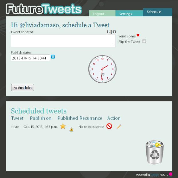 O Future Tweets é um recurso que permite programar posts no Twitter (Foto: Reprodução/Lívia Dâmaso)