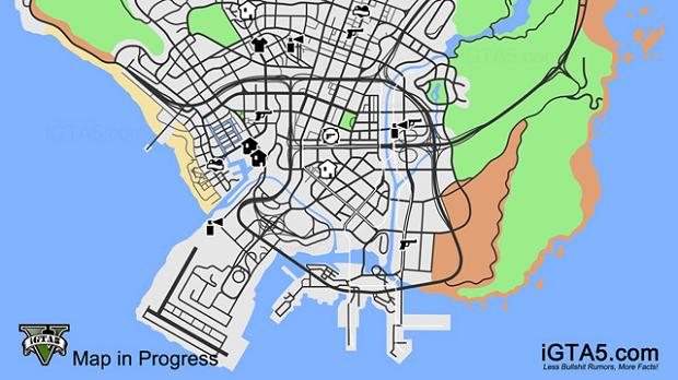 Mapa de GTA V é enorme (Foto: Reprodução/iGTA)