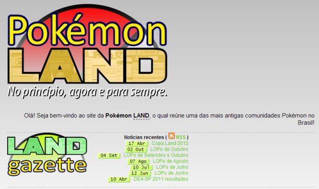 Comunidade brasileira Pokémon LAND já foi uma das maiores no país (Foto: Reprodução)