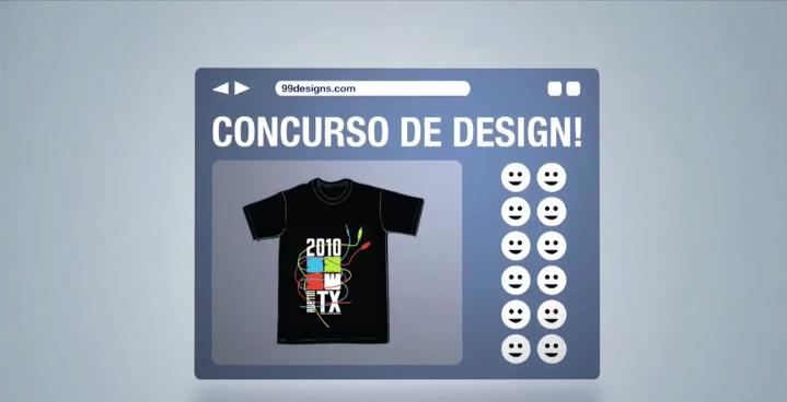 99designs oferece concursos de desing online (Foto: Reprodução/99designs)