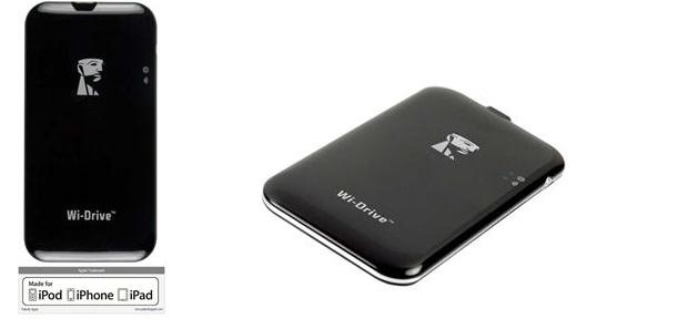 HD Externo Portátil Kingston Wi-Drive Storage 32GB com Wi-Fi