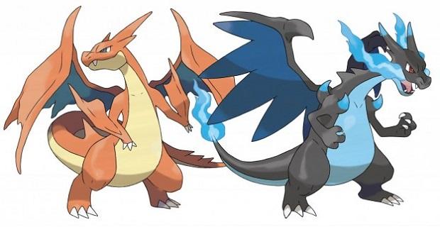 As duas evoluções de Charizard (Foto: Divulgação) (Foto: As duas evoluções de Charizard (Foto: Divulgação))