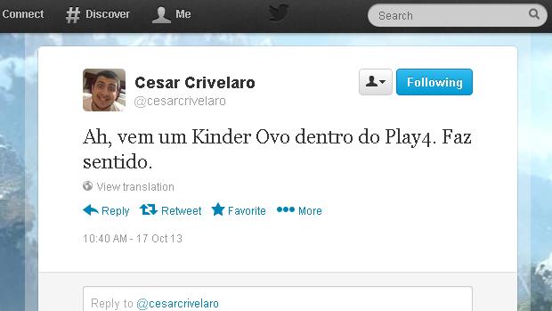 @cesarcrivelaro (Foto: Reprodução)