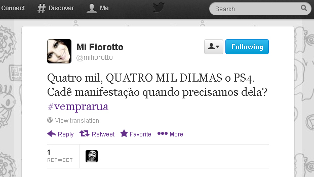 @mifiorotto (Foto: Reprodução)