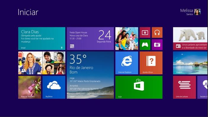 Windows 8.1, novo sistema operacional da Microsoft e sua tela inicial (Foto: Divulgação/Microsoft)