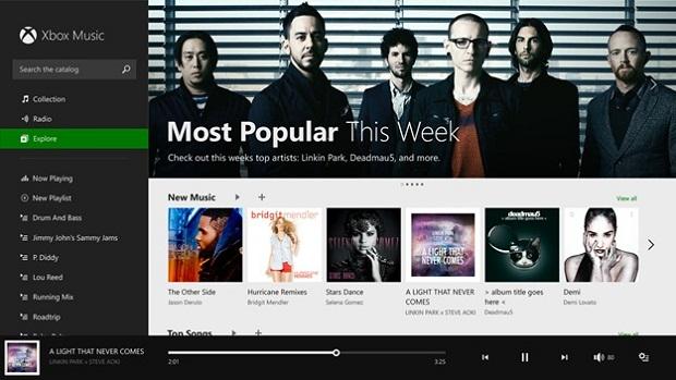Windows 8.1 tem versão mais clean do aplicativo  Xbox Music (Foto: Reprodução / blogs.windows)