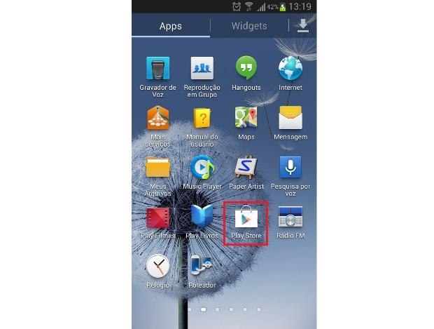 Atalho para o Google Play (Foto: Reprodução/Lívia Dâmaso)