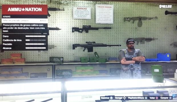 Rifle é excelente para atirar de longe (Foto: Reprodução/Thiago Barros)