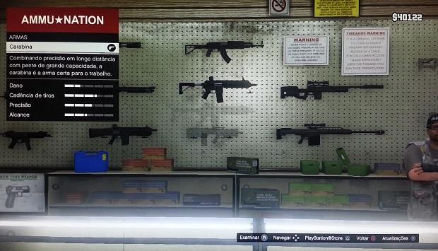 Carabinas são armas razoáveis (Foto: Reprodução/Thiago Barros)