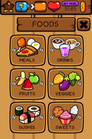 Tela de compra de alimentos. Cada um tem um valor e benefício. (Foto: Techtudo)