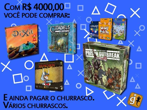 Galápagos Jogos sugere trocar o PlayStation 4 por jogos de tabuleiro e churrascos (Foto: Reprodução)