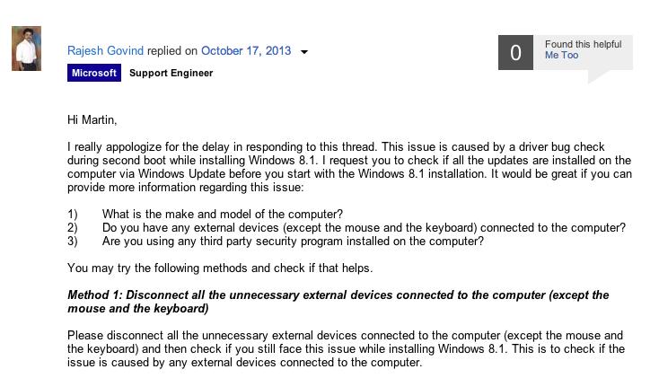 Rajesh Govind, engenheiro da Microsoft, deu dicas no fórum Microsoft Community (Foto: Reprodução/Microsoft)