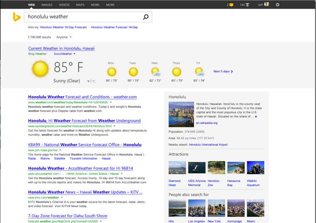 Bing.com tem novo visual no Windows 8.1 com IE 11; outros sistemas o receberão nas próximas semanas (Foto: Reprodução/Microsoft)