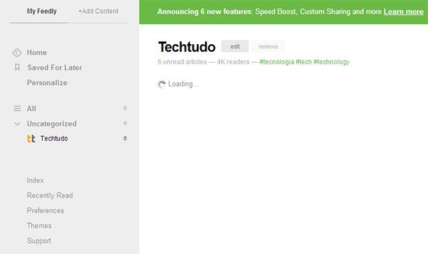 Segundo o Feedly, o carregamento de artigos pode ficar até 4x mais rápido para usuários Pro (Foto: Reprodução)
