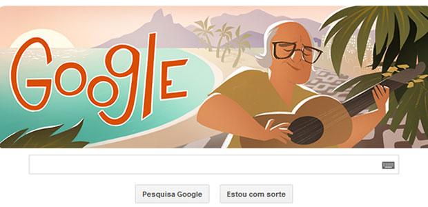 Doodle Vinicius de Moraes (Foto: Reprodução)