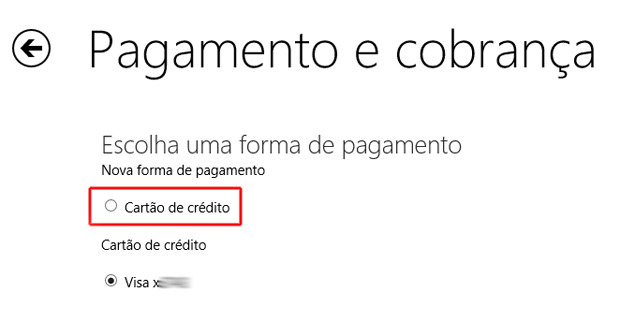 Adicionando dados de um outro cartão de crédito na Windows Store (Foto: Reprodução/Marvin Costa)
