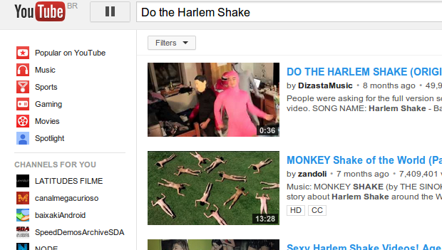 Música que virou meme também ganhou um Easter Egg no Youtube. (Foto: Reprodução)