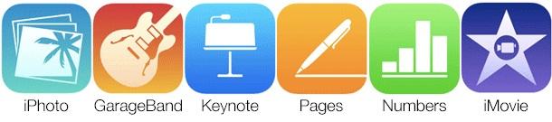 Novos ícones dos Apps da Apple (Foto: Divulgação)