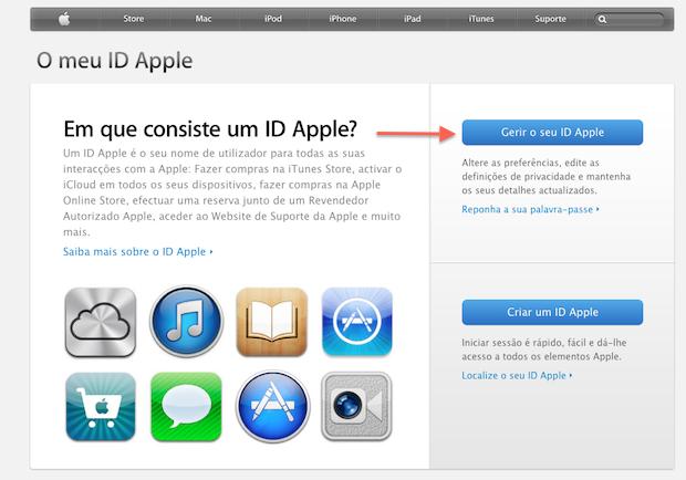 Editando uma Apple ID pela Web (Foto: Reprodução/Apple)