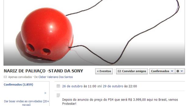Protesto em stand da Sony na BGS tem mais de 1800 confirmados.( Foto: Reprodução)