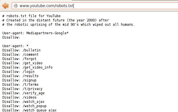 Easter egg conta com uma página escrita por robôs. (Foto: Reprodução)