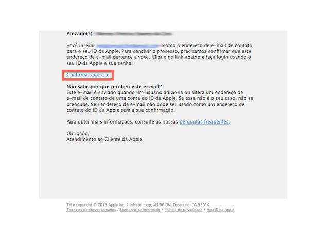 Iniciando a confirmação de nova conta no iTunes (Foto: Reprodução/Marvin Costa)