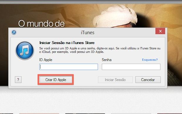 Iniciando a criação de uma ID Apple (Foto: Reprodução/Marvin Costa)