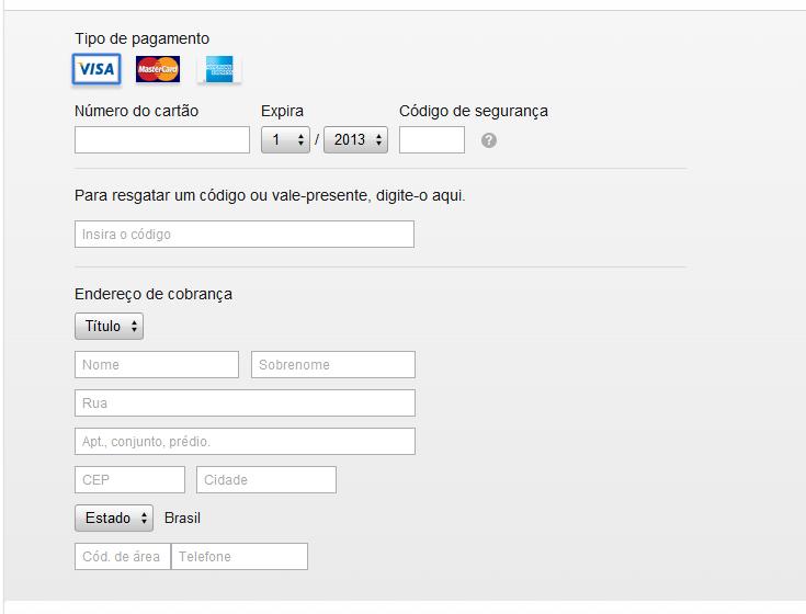 Inserindo dados de cartão de crédito e informações de contato para criar um login no iTunes (Foto: Reprodução/Marvin Costa)