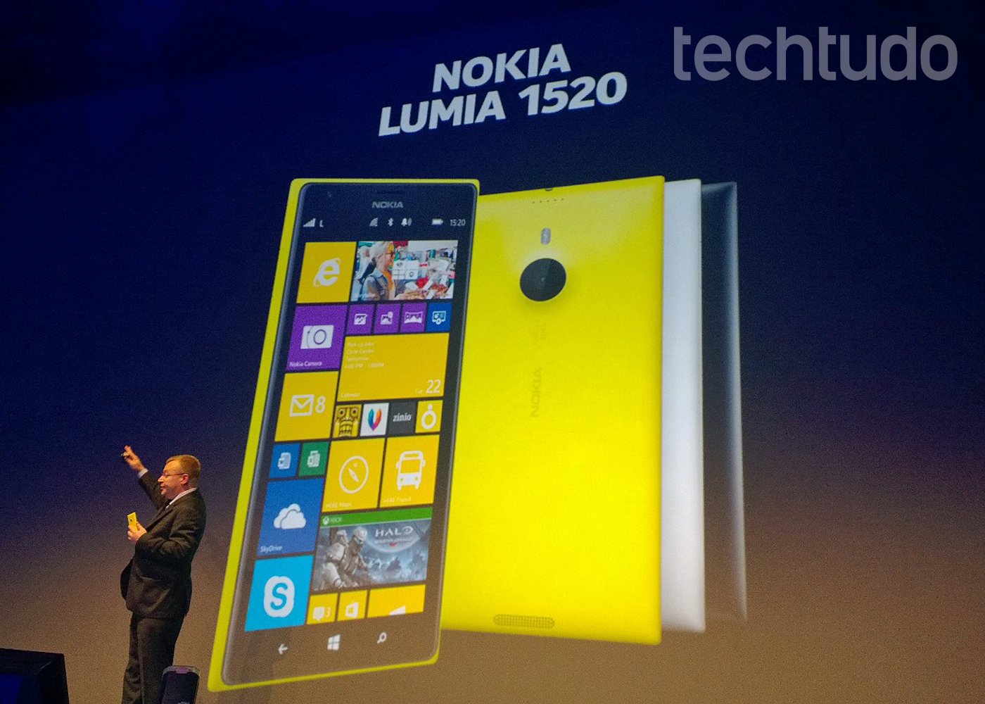 Lumia 1520, um foblet com tela de 6 polegadas (Foto: Allan Melo / TechTudo)