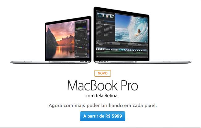 Novo Macbook Pro com Retina já está à venda no Brasil (Foto: Reprodução/Apple)