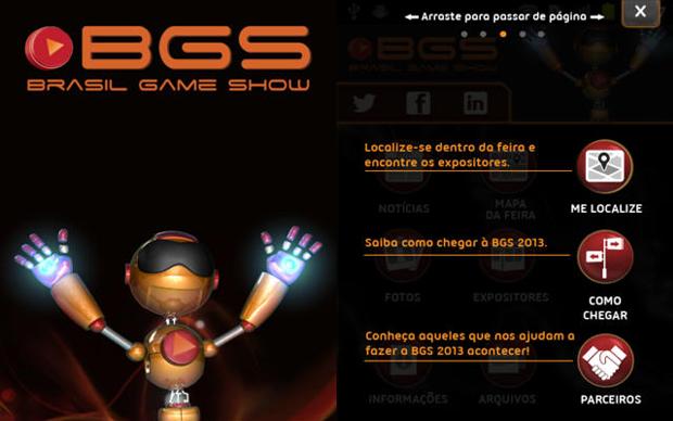Aplicativo da Brasil Game Show 2013 traz diversas informações para os visitantes (Foto: Divulgação)