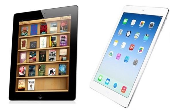 iPad 4, à esquerda, e o novo iPad Air, à direita (Foto: Divulgação/Apple)