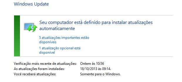 Manter seu sistema operacional atualizado dificulta a disseminação de malware (foto: Reprodução/João Kurtz)