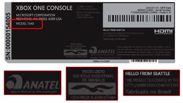 Fotos da Anatel indicam Xbox One produzido no Brasil (Foto: Reprodução)